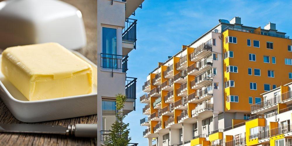 Co mají podobného máslo a nemovitosti? Zdražení.