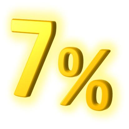 7 procent