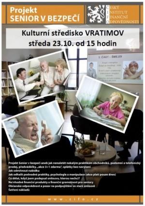pozvánka projekt ČIFO - Senior v bezpečí
